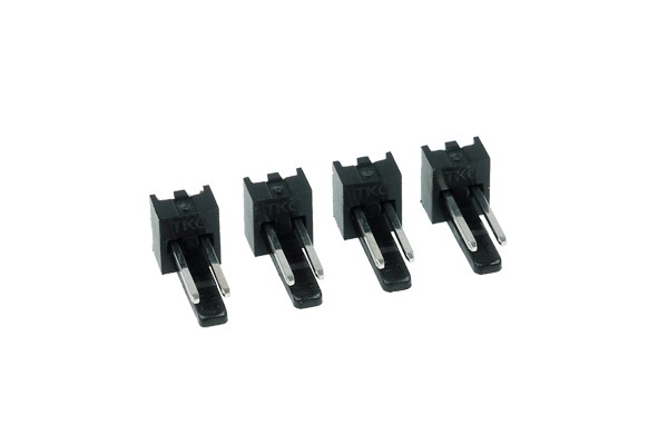 Phobya Fan Power Connector 2Pin male - 4 pcs black