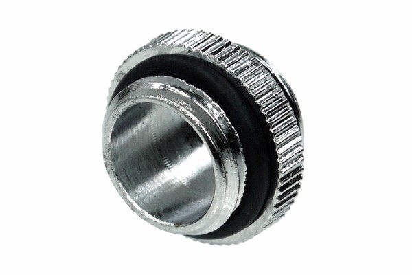 Alphacool HF double nipple G1/4 outer thread to G1/4'' outer thread with O-ring - Chrome