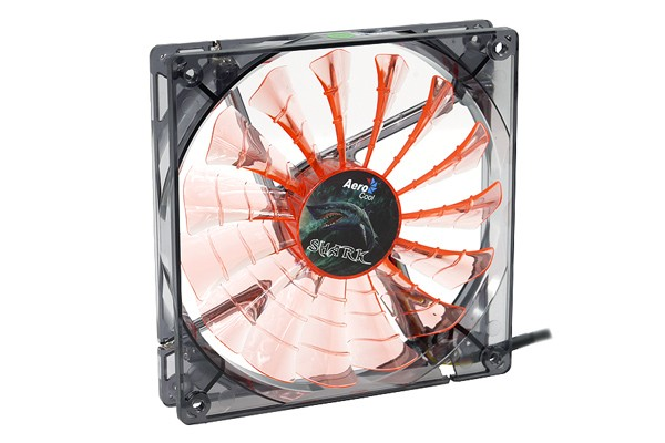 Aerocool Shark Fan Black Evil Edition - transparent black – orange LED (140x140x25mm)