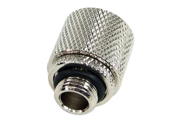 10/8mm (8x1mm) compression fitting outer thread 1/8 - knurled silver