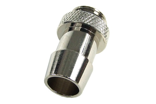 "13mm (1/2"") fitting G1/4 with O-Ring (High-Flow) - short - silver"