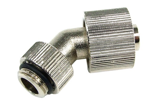 16/10mm compression fitting 45° revolvable G1/4 - compact - silver nickel