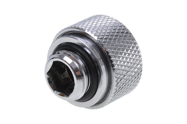 Alphacool HT 13mm HardTube compression fitting G1/4 - knurled - chrome