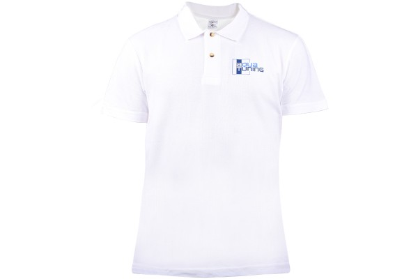 Aquatuning Men Polo-Shirt blue with logo (www.aquatuning.com) size S