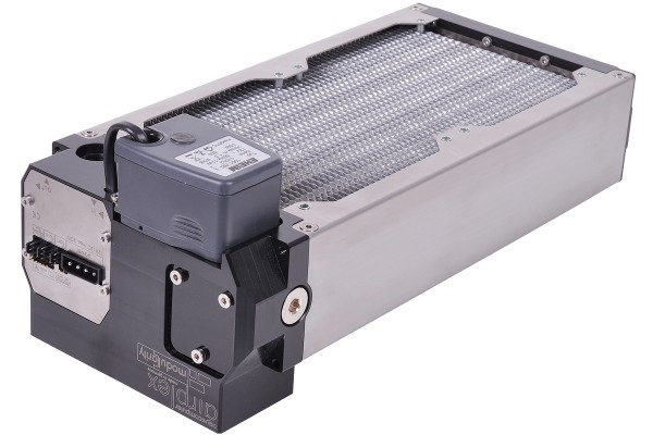 Aquacomputer airplex modularity system 240 mm, aluminum fins, Compact 600/12V, stainless steel side panels