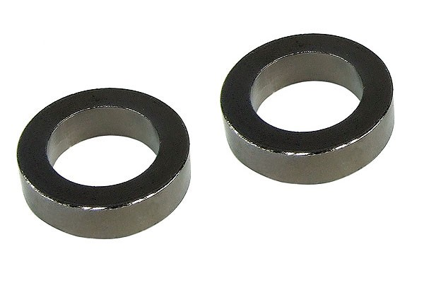 spacer sleeves brass (2 pieces x 5mm) - black nickel plated