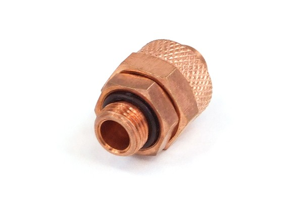 10/8mm (8x1mm) compression fitting G1/8 - copper plated