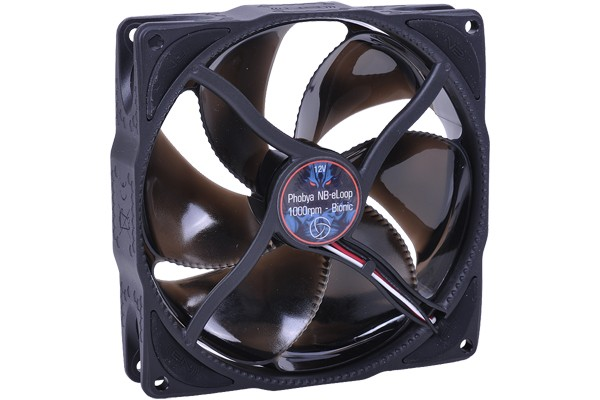 Phobya NB-eLoop 1000rpm - Bionic fan Black Edition ( 120x120x25mm )