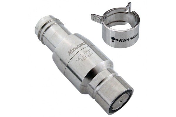 """Koolance quick release connector 13mm fitting (1/2"""") male (High Flow) - QD3"""