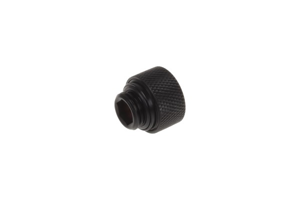 Alphacool Eiszapfen 12mm HardTube compression fitting G1/4 for carbon tubes (rigid or hard tubes) - knurled - deep black