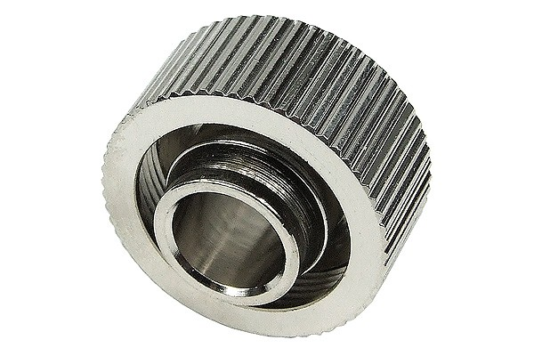 """19/13mm compression fitting straight G1/4"""" - compact - silver nickel plated"""