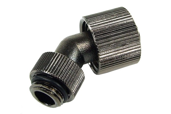 16/10mm compression fitting 45° revolvable G1/4 - compact - black nickel