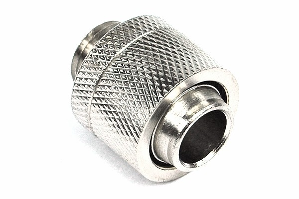 16/13mm compression fitting straight G1/4' silver nickel plated