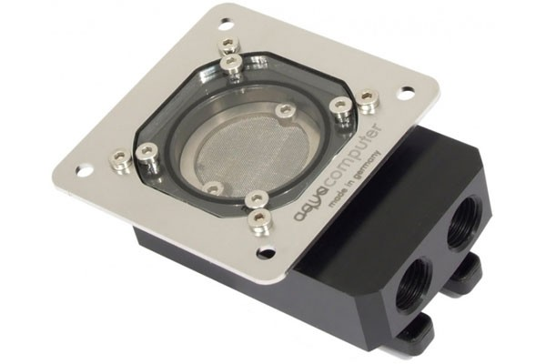 Aquacomputer Filter with stainless steel mesh, ball valves and mounting plate G1/4