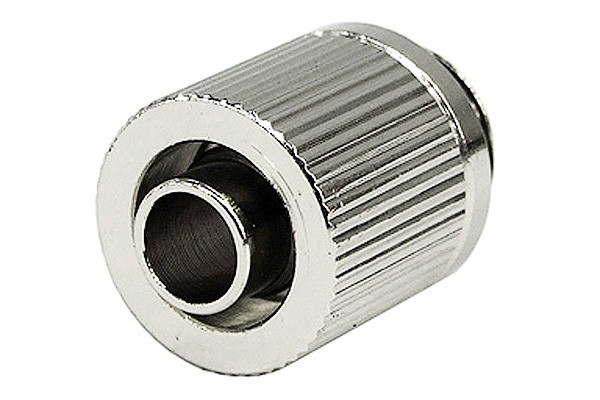 11/8mm (8x1,5mm) compression fitting outer thread 1/4 - compact - silver nickel