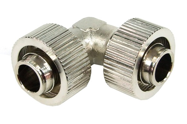 19/13mm L hose connector – compact – silver nickel plated