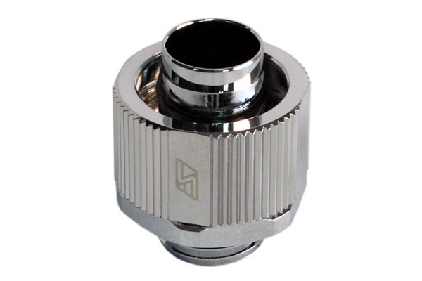 "Swiftech 16/11 (5/8"" x 3/8"") compression fitting Lok-Seal G1/4 - chrome"