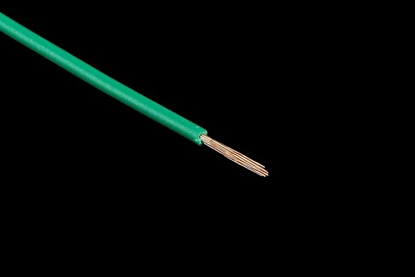 Insulated copper lead 1x0,14mm² 10m green